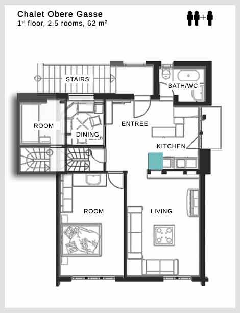 Floor plan Chalet Obere Gasse Dolce Vita Saas-Fee