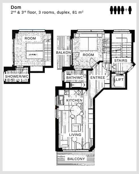 Floor plan apartment Dom Dolce Vita Saas-Fee